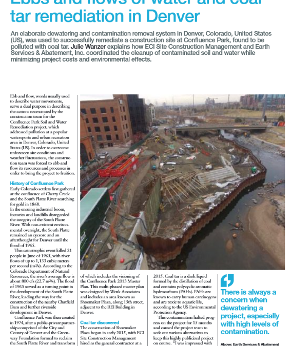 Ebbs and Flows of Water and Coal Tar Remediation in Denver